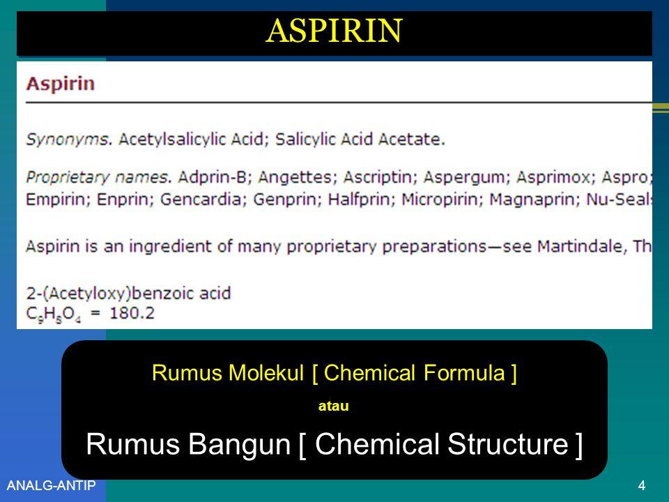 ASPIRIN Rumus Bangun [ Chemical Structure ]